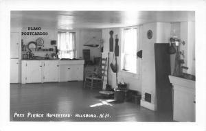 HILLSBORO, NEW HAMPSHIRE,PIERCE HOMESTEAD KITCHEN RPPC REAL PHOTO P.C.