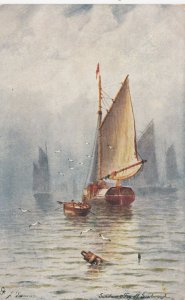 SCARBOROUGH , England , 00-10; Sunshine & Fog ; TUCK 6256