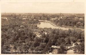 Stockholm Sweden Skansen View From Bredablick Real Photo Antique Postcard K10976
