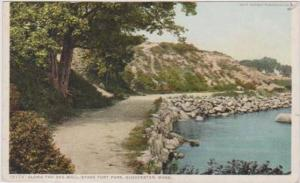 Detroit Publ. Co. #13774: Scenic View Along the Sea Wall, Stage Fort Park, Gl...