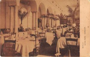 Sevilla Spain Hotel Paris Dining Room Antique Postcard J50879