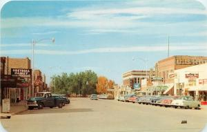 Greybull Wyoming~Main Street~Market~Big Horn~Theater~JC Penney~1950s Cars