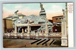 Nantasket Beach, MA-Massachusetts, Paragon Park North Pole Trip Exhibit Postcard