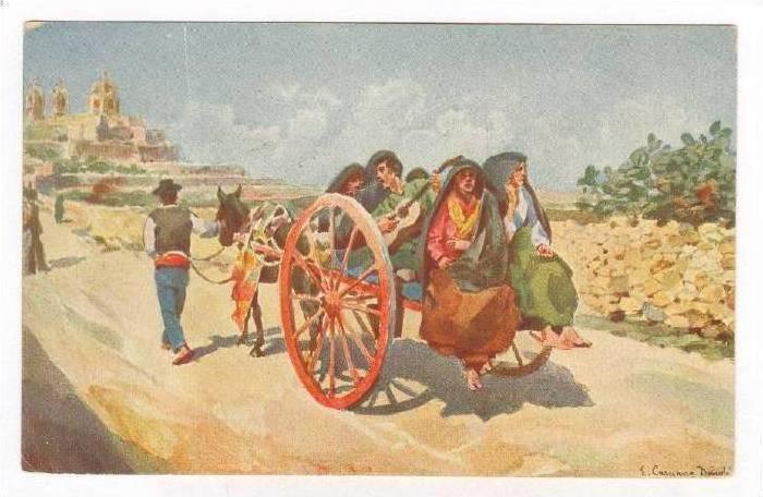Malta , A country Cart, PU_00-10s