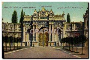 Old Postcard Hi Constantinople Palace Dolma Baghtche Turkey