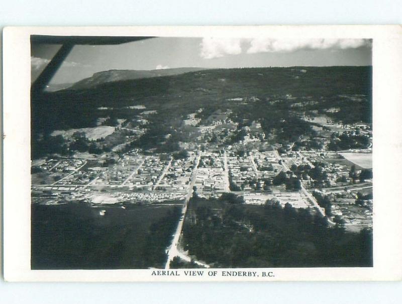 Pre-1962 rppc ENDERBY IN OKANAGAN By Armstrong & Salmon Arm & Vernon BC W1025