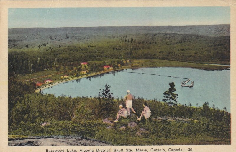 SAULT STE. MARIE, Ontario, Canada, PU-1939; Basswood Lake, Algoma District