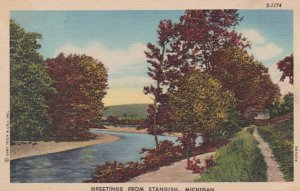 Michigan Greetings From Standish Curteich