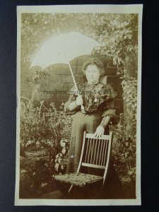 Yorkshire Osmotherley PORTRAIT of RUTH HILLARY at South House c1905 RP Postcard