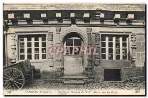 Carhaix - Shop House the XVI century street Pave - Old Postcard