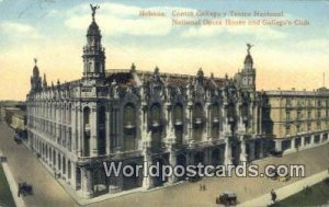 National Opera House & Gallego's Club Habana Republic of Cuba 1915 Missing St...