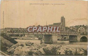 Old Postcard Beaumont sur Oise New Bridge