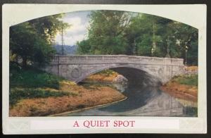 """Postcard Used """"A Quiet Spot"""" Bridge CO LB"""