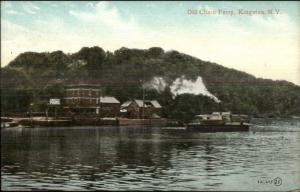 Kingston NY Old Chain Ferry c1910 Postcard