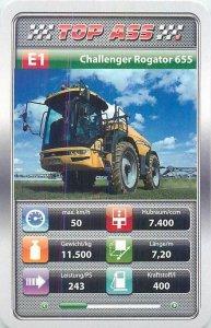 Auto revue Top Ass 9x6cm haulage trade card E1 CHALLENGER ROGATOR 655