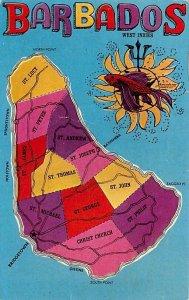 Barbados Map Barbados West Indies 1970