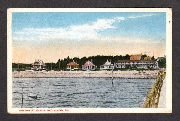 ME View Camps Cottages Crescent Beach Rockland Maine Postcard