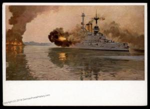 3rd Reich Germany HDK 15 Kriegsmarine Ship Shooting on the Westerplatte Pr 91276