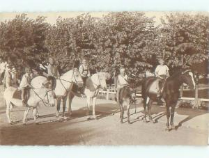 rppc 1940's RIDING HORSES AND DONKEY MULES AC8863