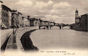 CPA PISA Lung'Arno Ponte di mezzo. ITALY (468101)