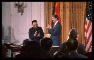 President Carter and Teng Hsiao-p'ing of the People's Republic of China