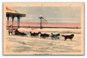 1530   Quebec  A dog team pulling sled