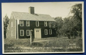 Wells Maine me former public house of Capt Samuel Jefferson real photo postcard