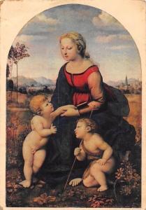 Art Raphael Sanzio, La Belle Jardiniere Musee du Louvre Postcard