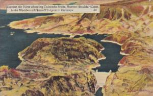 Nevada Aerial View Showing Colorado River Hoover Dam Lake Meade & Grand Canyon