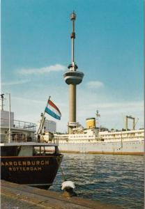 Rotterdam, Platforms, Space Tower, unused Postcard