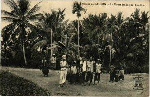 CPA AK INDOCHINA Env.de Saigon La Route du Bac de Thu-Duc VIETNAM (957127)