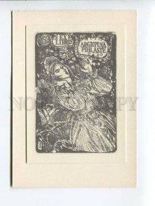 271773 USSR Evald Okas Argepina Pihlaste ex-libris bookplate 1970 year