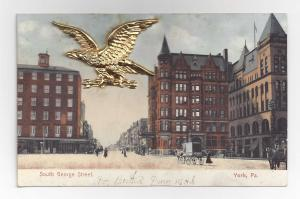 York PA South George Street Novelty Metal Gold Eagle Add-On