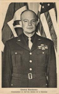 US General Dwight David Ike Eisenhower (1945) WWII Tuck Postcard