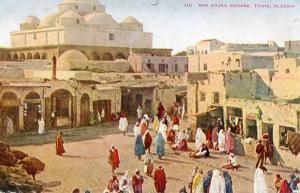Africa - Algeria, Tunis - Bab Sujka Square