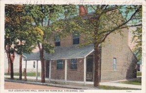 Old Legislature Hall Over 100 Years Old Vincennes Indiana
