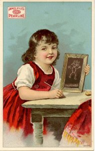 Advertising Trade Card -  James Pyles Pearline Washing Compound   (4.125 X 2...