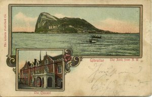 Gibraltar, The Convent, The Rock from N.W. (1900s) Postcard