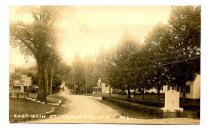 NH - Tamworth. East Main Street circa 1910.   *RPPC