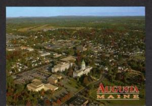 ME Aerial View State Capitol AUGUSTA MAINE POSTCARD PC