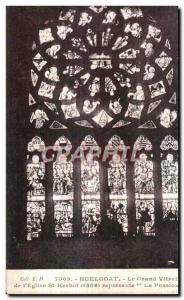 The Huelgoat - Saint Hebot - Large stained glass - Old Postcard