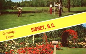 Golf and Roses Greetings from - Sidney BC, British Columbia, Canada