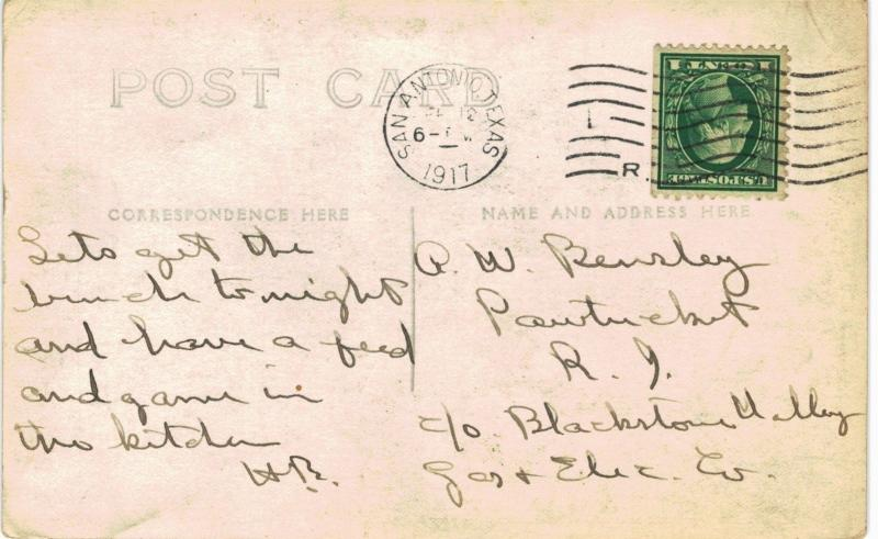 Kelly Field RPPC Mess Tent 1917 TX US Army / HipPostcard