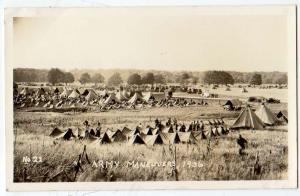 RPPC - Army Maneuvers 1936