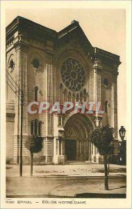 Postcard Epinal Old Church of Our Lady