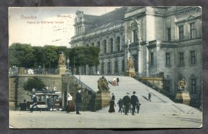 dc929 - GERMANY Dresden 1911 Staendehaus. Tram Trolley