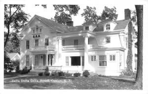 Canton New York~St Lawrence University~Delta Delta Delta House~Sorority~50s RPPC