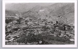 RPPC-Silver City, Idaho - A view from Telegraph Hill about 1900