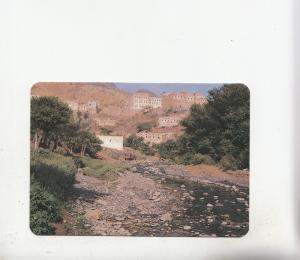 BF27071  yemen a village at wadi bana   front/back image