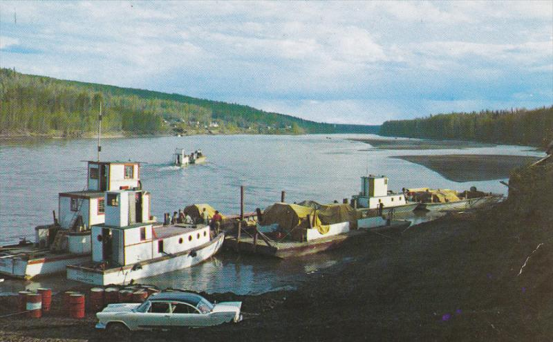 Arctic Boats , Old Fort Nelson , B.C. , Canada , 50-60s